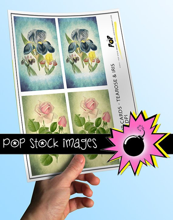 Watercolor Flowers print Journal Tags