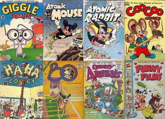 DVD Golden Age Comics Cartoon ANIMAL FUNNIES  Giggle Supermouse Atomic Mouse