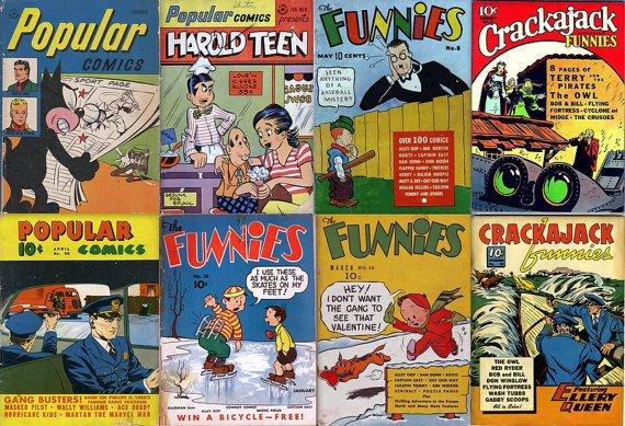 DELL COMICS Funnies DVD (Golden Age Vol 5) Crackajack Cartoon Animals old retro