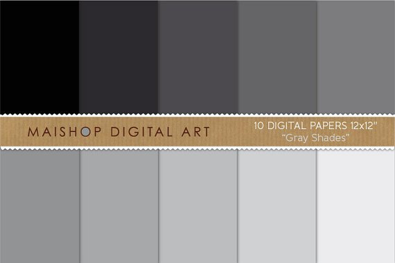 Solid Color Digital Paper - Gray Shades
