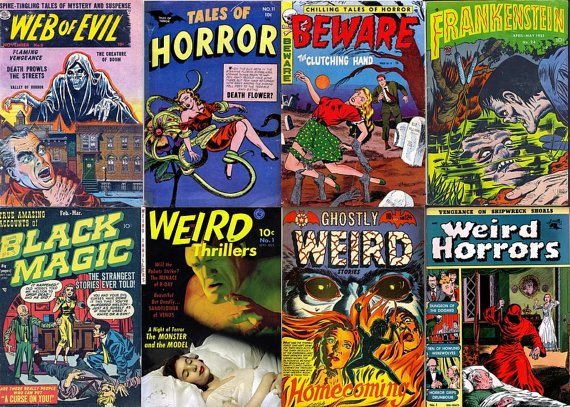 DVD Gold Age Comics WEIRD HORRORS Mystery Haunted Beware Evil Eerie Prize Frankenstein