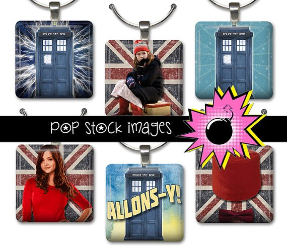 1 Inch Squares DOCTOR WHO Collage Sheet-print for PendantsMagnets & Wine Charms