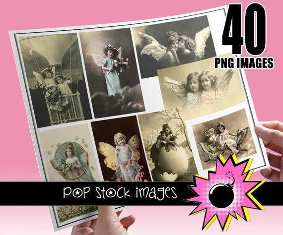 Victorian Antique Photographs of Children - Fairy Kids ,  Flowers - 40