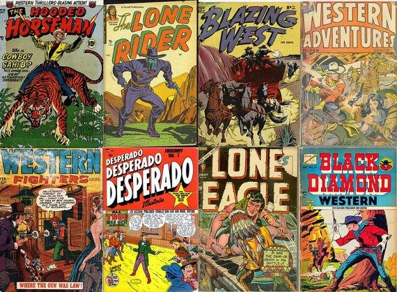 DVD Golden Age Western COWBOY COMICS (vol 4) Black Diamond Lone Rider Desperado