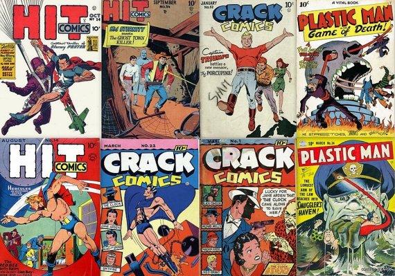 Quality PLASTIC MAN Crack Hit Comics DVD  Lou Fine
