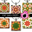 1 Inch Squares QUILT BLOCKS Collage Sheet-print for PendantsMagnets