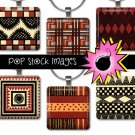 1 Inch Squares TRIBAL DESIGNS Collage Sheet-print for PendantsMagnets & Wine Charms-TRIBAL