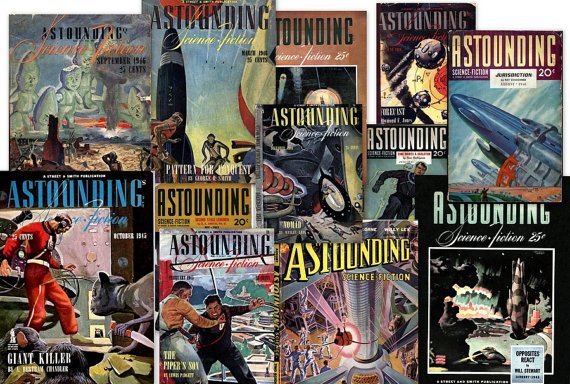 DVD Pulp Magazines ASTOUNDING SCIENCE Fiction Golden Age  Asimov Lester Del Ray