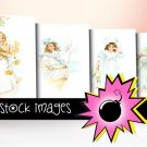 Vintage Little Girls Watercolor Digital Images - vintage print