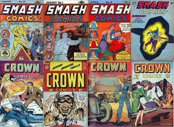 Quality SMASH Comics & CROWN Comics DVD  Bozo Lady Luck Magazines