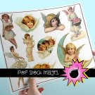 Vintage Angels Digital Image Set Assorted Angel Digital Clipart