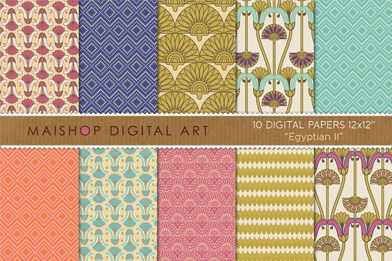 Digital Paper Egyptian II
