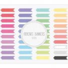 Arrows Ribbon Banners Stitch Clip Art for WebDigital ScrapbookingCrafts