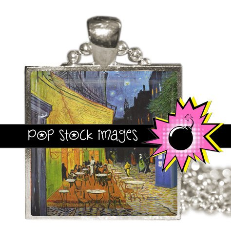 1 Inch Squares DOCTOR WHO Van Gogh Cafe Collage Sheet-print for PendantsMagnets