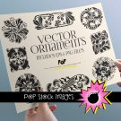 Art Nouveau Black Wh Ornaments-PNG EPS Img. for Altered ArtDigital Scrapbooking-Ornaments