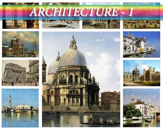 ARCHITECTURE-1 on 268 vintage print