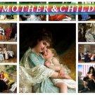 MOTHER ,  CHILD on 175 vintage print