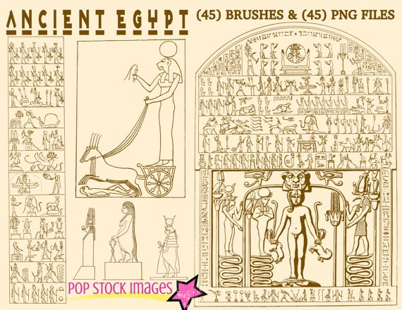 Ancient Egypt Heiroglyphics Photoshop Brushes-ABR