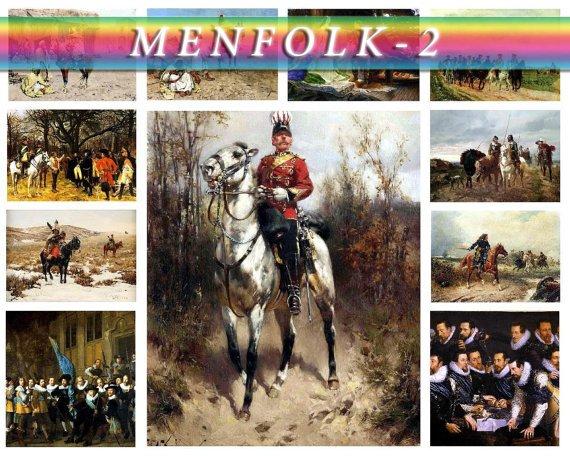 MENFOLK WARRIORS-2 160 vintage print
