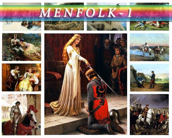 MENFOLK WARRIORS-1 151 vintage print
