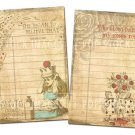 Alice in Wonderl,print Library Cards