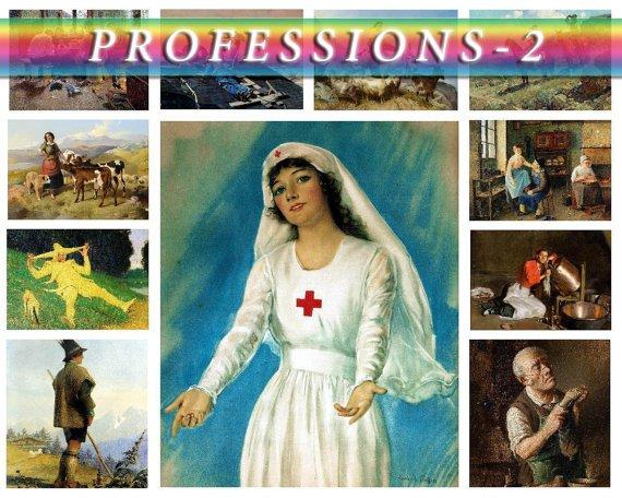PROFESSIONS-2 on 250 vintage print