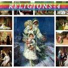 RELIGIONS-4 theme on 203 vintage print