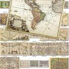 ANTIQUE MAPS-1 200 large size Img. printable old ancient World ephemera card