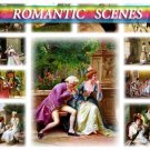 ROMANTIC SCENES on 271 vintage print