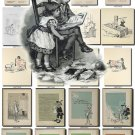 CHILDREN BOOKS-4-bw illustrations Collection with 500 black-, -white
