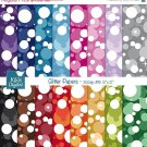 Glitter Digital Papers- Confetti Scrapbooking Papers- card design, scrapbooking