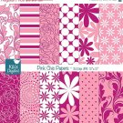 Pink Chic Digital Papers - Digital Scrapbooking Papers - card design, background