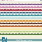Colorful Borders - Digital Clipart / Scrapbooking - card design, stickers