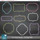Chalk Frames - Digital Clipart / Scrapbooking card design, invitations