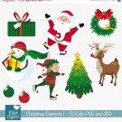 Christmas Elements set I - Digital Clipart / Scrapbook - card design