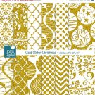 Gold Glitter Christmas Digital PapersChristmas papersGlitter Papers-card design