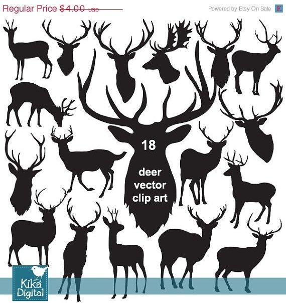 Deer Silhouette Clip Artdeer vector silhouetteshipster clip artdesignphotographEPS