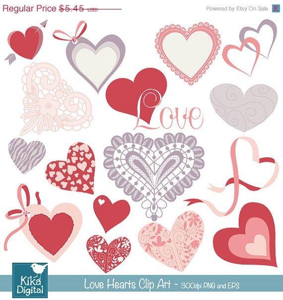 Love Hearts Clip Art-Valentines ClipartHeart VectorLove vector clip artValentine Scrapbook