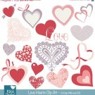 Love Hearts Clip Art-Valentines ClipartHeart VectorLove vector clip artValentine Scrapbook