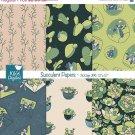Succulent Digital Papers- Succulents , Cactus Paper Pack- Scrapbook, card design