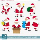 Santa Claus - Digital Clipart Scrapbooking - card design, invitations, stickers