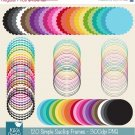 120 Simple Scop Digital Frames - Mix , Match - card design, invitations