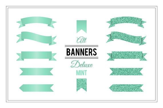 Banner Clip Art Deluxe Mint