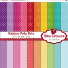 Colorful Polka Dots Digital Papers - Digital Scrapbooking Papers - card design