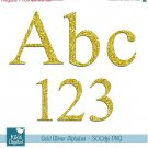Gold Glitter Alphabet - Digital Clipart / Scrapbooking colorful - card design