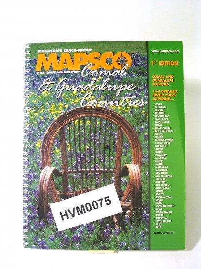 Mapsco Street Atlas Comal Guadalupe county Texas 1st ed 2001
