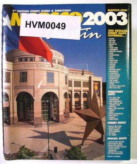 Mapsco Street Guide Atlas Austin, Texas 2003