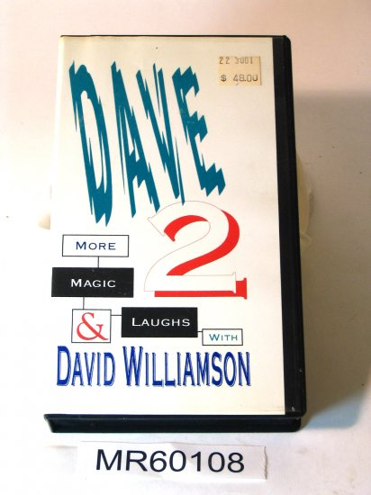 David Williamson Dave 2 More Magic and Laughs VHS