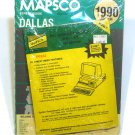 Mapsco 1990 Dallas Street Guide with digital index on floppy
