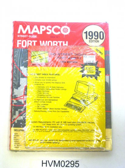 Mapsco 1990 Fort Worth Street Guide with digital index on floppy